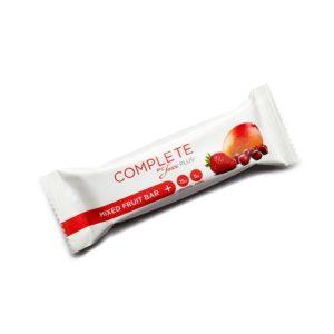 """""""Complete"""" barre          aux fruits mixés      55g."""